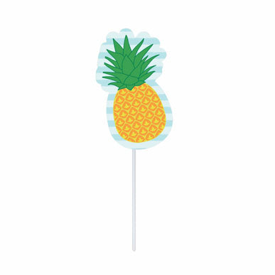 Cupcake toppers - Pineapple - 10 pcs | Duster Festas