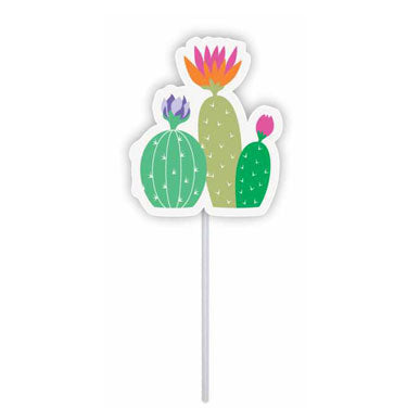 Cupcake toppers - 3 Cactus - 10 pcs | Duster Festas