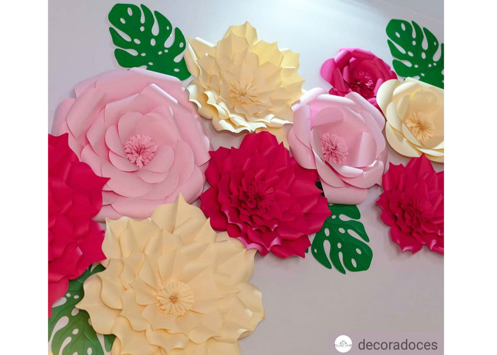 Decorative Giant Flower - Light pink Camellia - Decora Doces - Flor de papel - Cenario