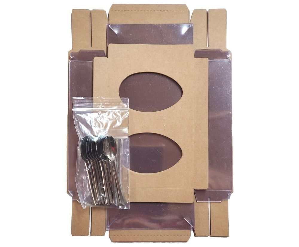 Easter egg box with spoon - 250g
