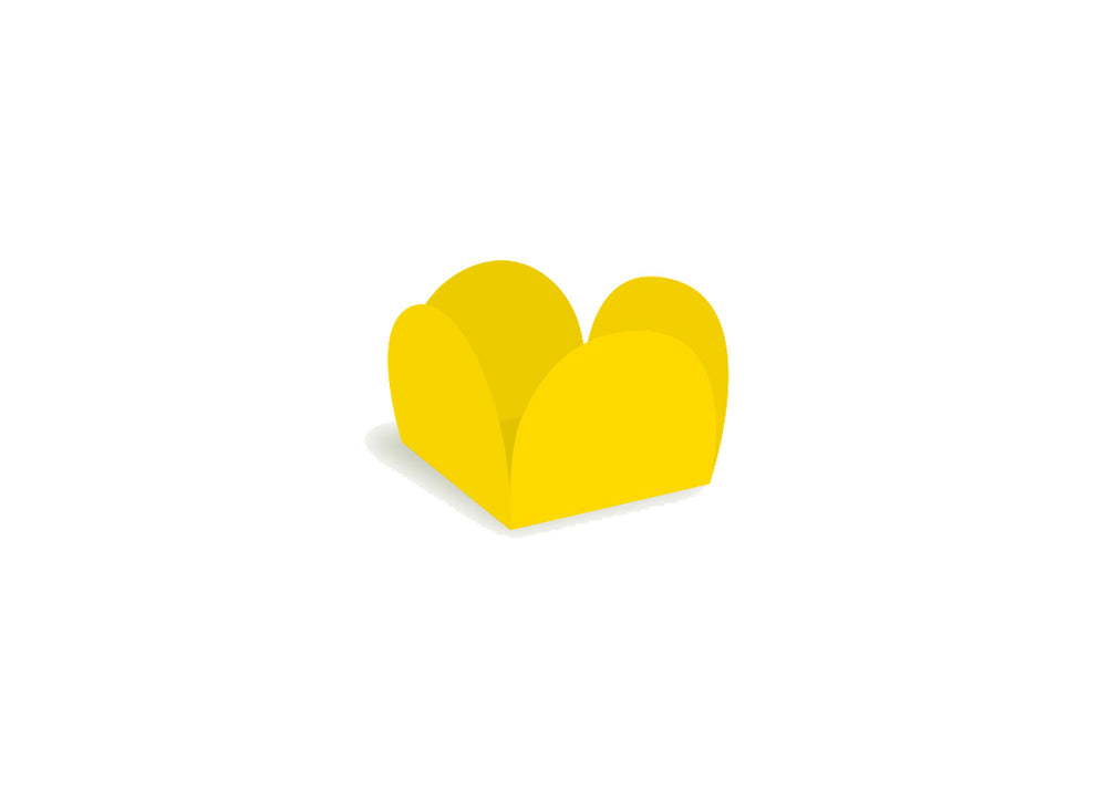 Four petals truffle holder - Yellow - 40 pcs | Ultrafest