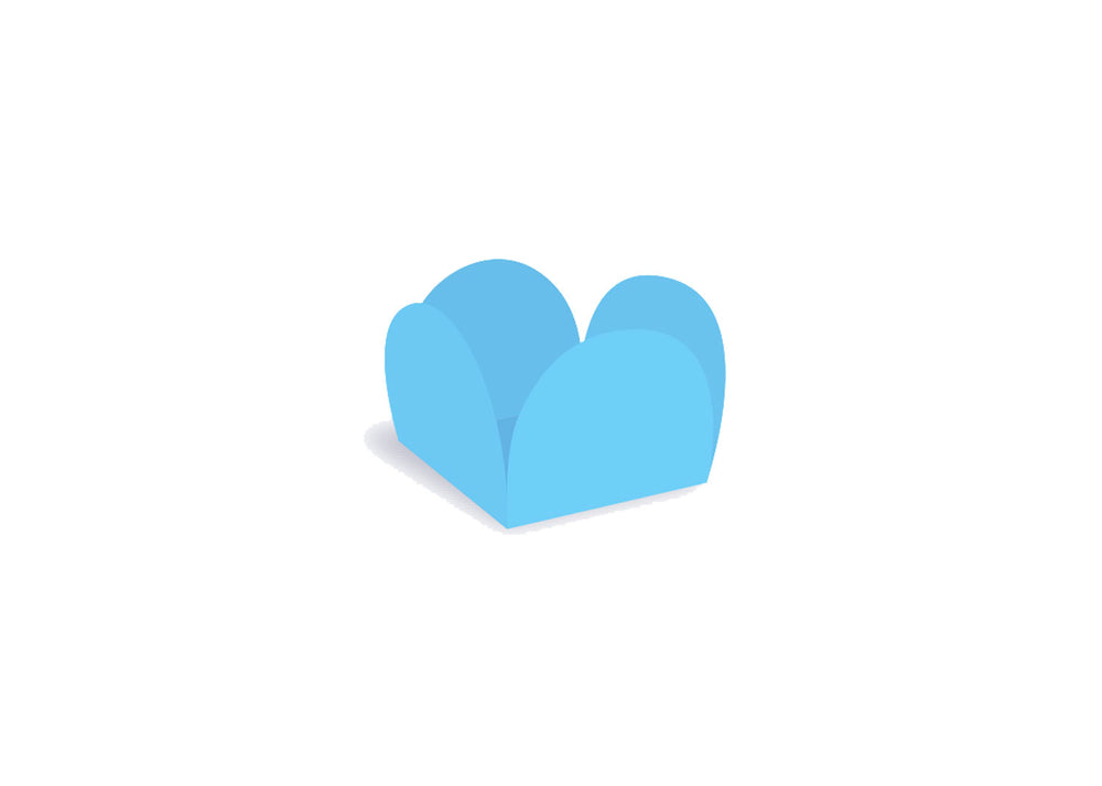 Four petals truffle holder - Light blue - 40 pcs | Ultrafest