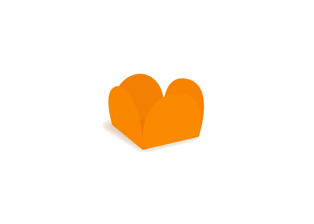 Four petals truffle holder - Orange - 40 pcs | Ultrafest