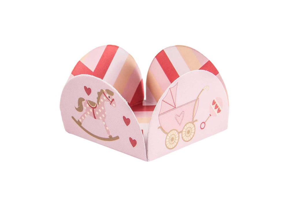 Four petals truffle holders - Baby girl - 50 pcs | Decora Doces