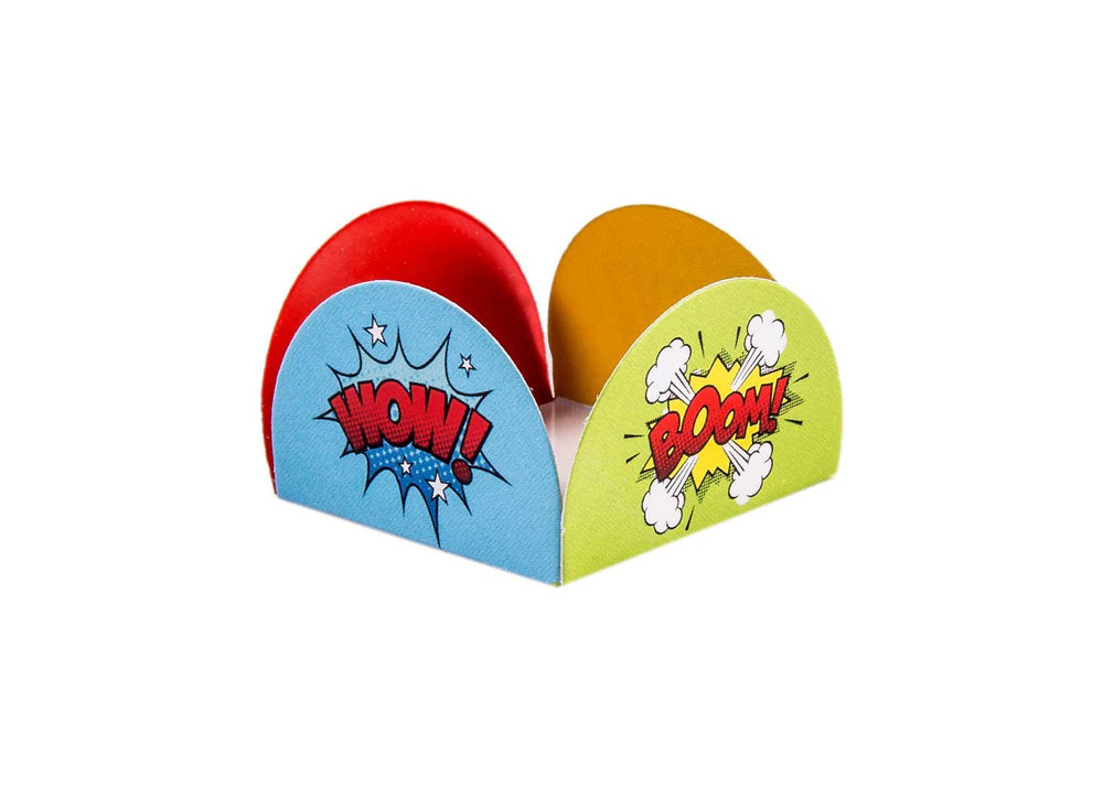 Four Petals Truffle Holder - Superheroes - Forminha para doces - Decora Doces - Herois