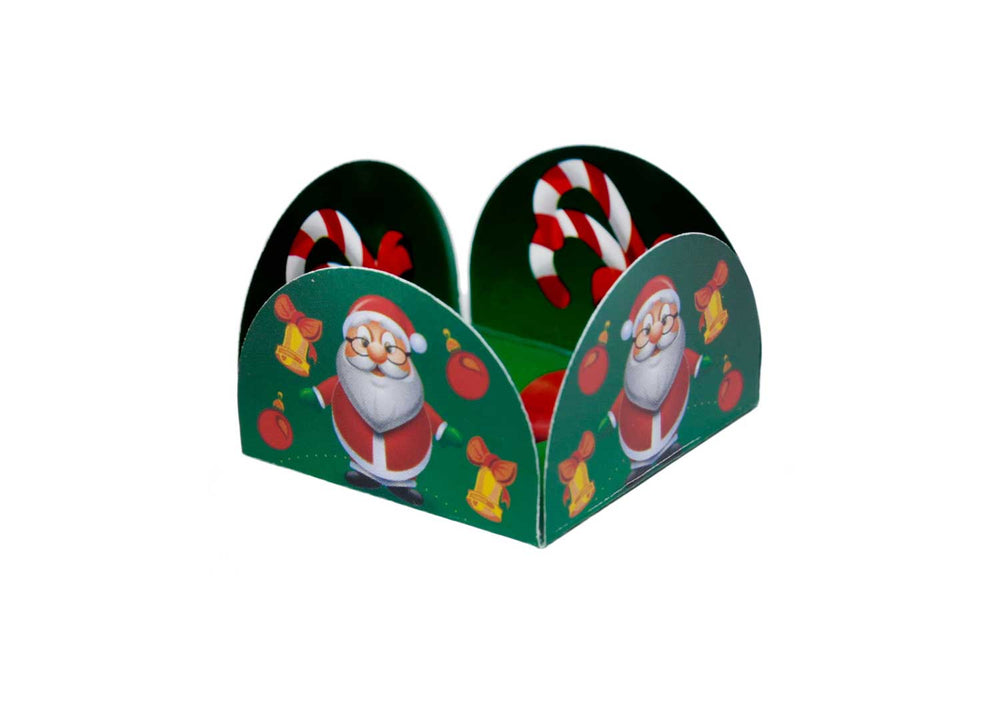 Four Petals Truffle Holder - Christmas - Forminha para doces - Decora Doces - Natal 03