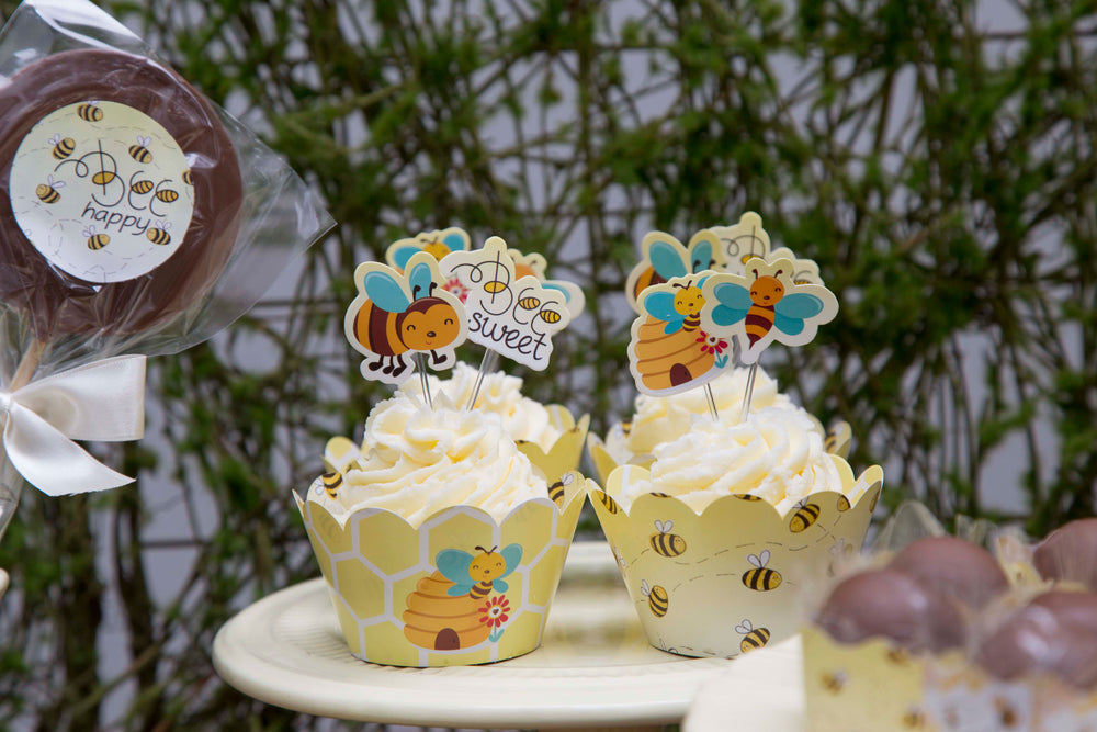Cupcake toppers - Bee - 10 pcs | Duster Festas