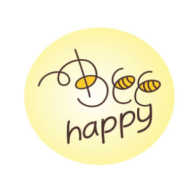 Round stickers - Bee theme - 42 pcs | Duster Festas