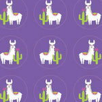 Round stickers - Llama theme -  42 pcs | Duster Festas