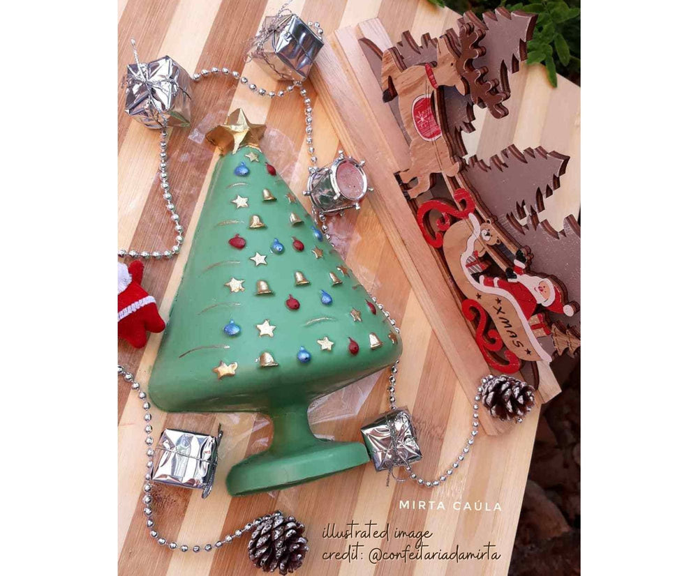 3 piece chocolate mold - BWB - 133 - Christmas Tree - Árvore de Natal