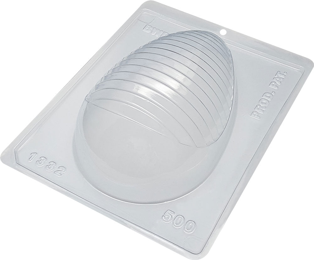 Special chocolate mold - Crease textured egg - 500g | BWB