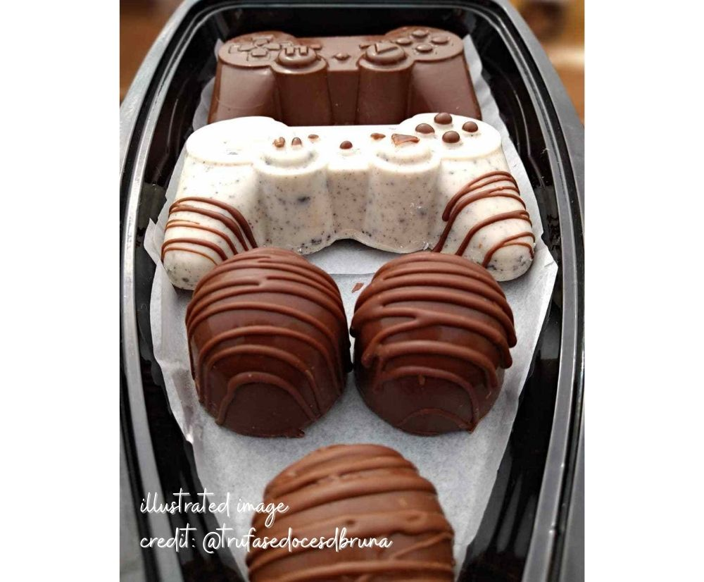 3 piece chocolate mold - Large Joystick | BWB 9814