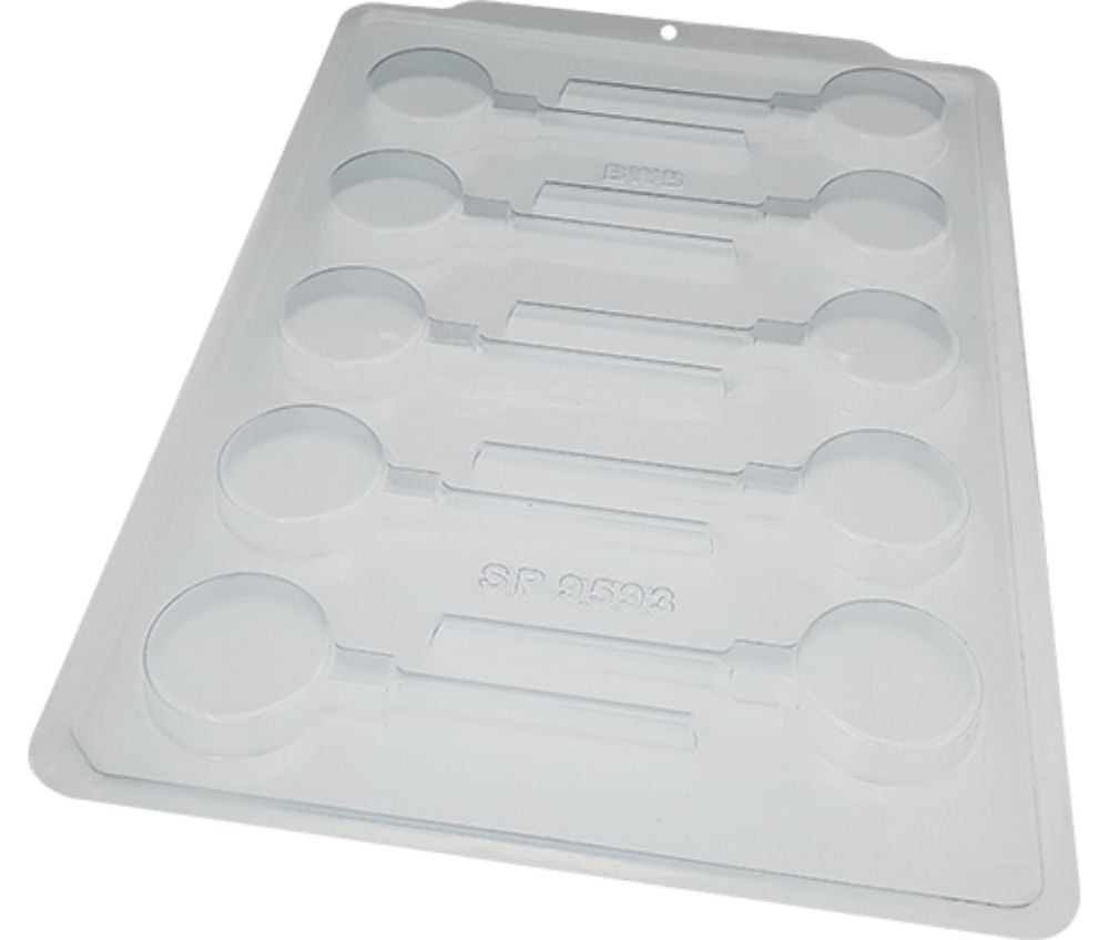 Acetate Chocolate Mold for making Oreo Lollipops in Canada - Forma Simples de Acetato para Pirulito tipo Oreo - BWB 3604