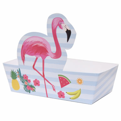 Snack box - Flamingo - 8 pcs | Duster Festas