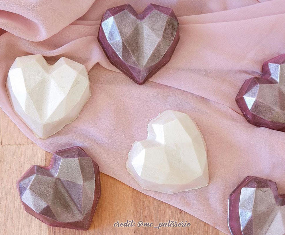 Special chocolate mold - Faceted heart | BWB