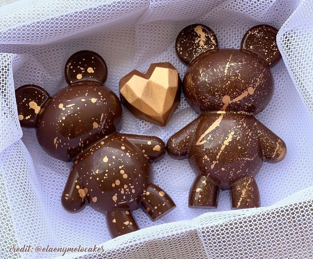 3 piece chocolate mold - Teddy bear - Large | BWB 9910