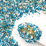 medley sprinkles dragee nonpareils jimmies rod edible beads gold white blue beach glass Sweetapolita Canada