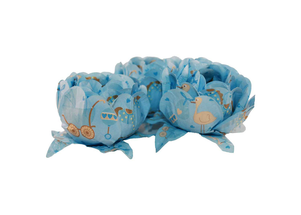 Truffle Wrapper - Baby boy - Forminha decorada para doces - Decora Doces - Baby menino