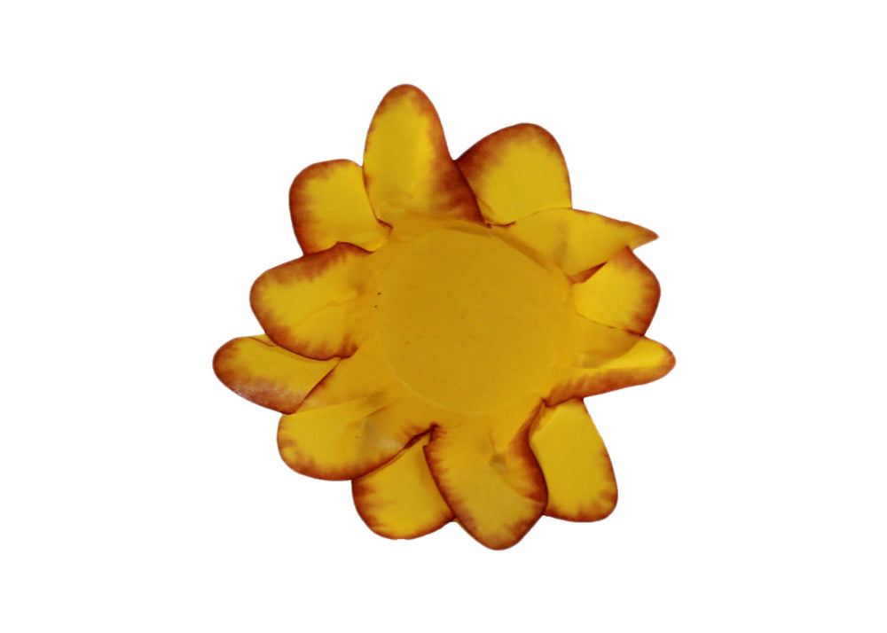 Truffle Wrapper - Yellow Lily - Forminha decorada para doces - Decora Doces - Lirio amarelo