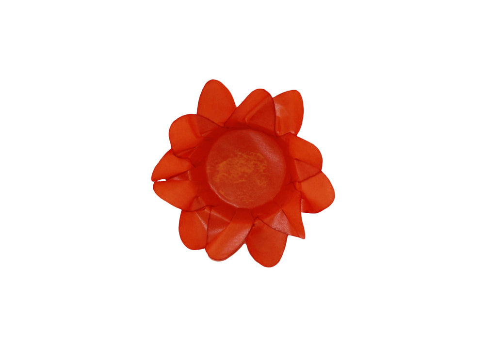 Truffle Wrapper - Orange Lily - Forminha decorada para doces - Decora Doces - Lirio laranja
