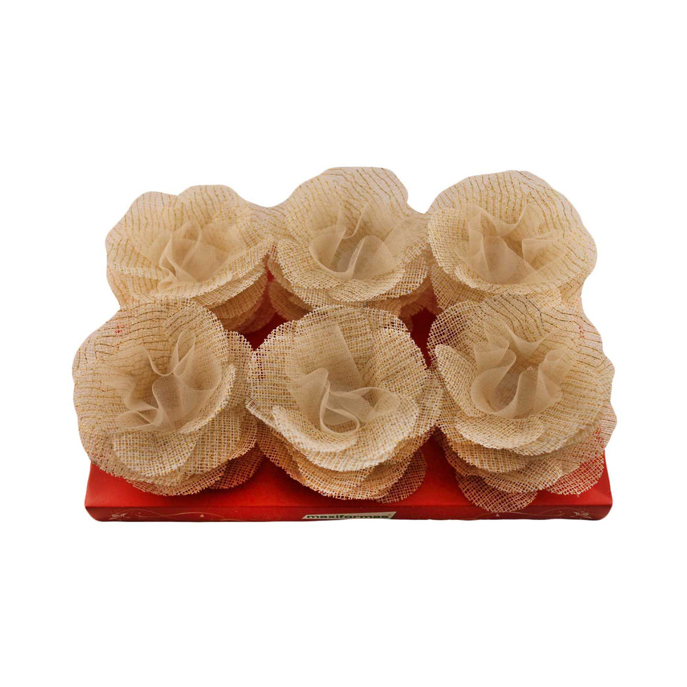 Truffle wrapper - Princesa Madeleine - Straw color/gold yarn - 24 pcs | Maxiformas