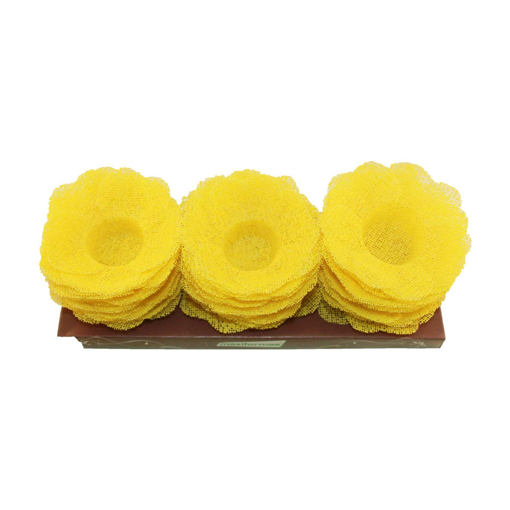 Truffle Wrapper - Yellow - Forminha decorada para doces - Maxiformas - Tropical Coracao amarelo