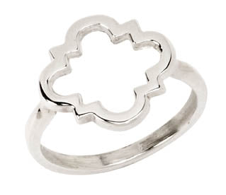 Open Quatrefoil Ring