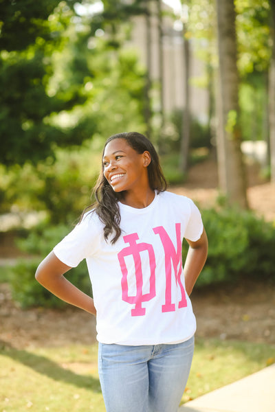 Pink Letter Tee