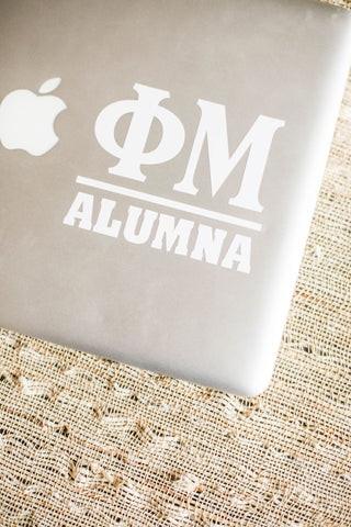 White Alumna Decal