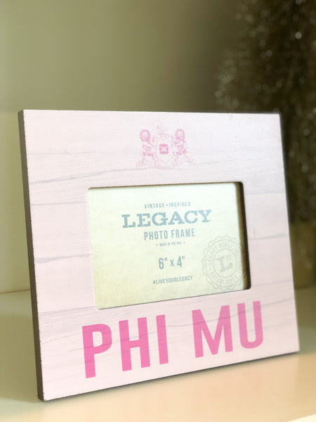 Phi Mu Picture Frame