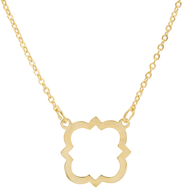 Matte Quatrefoil Necklace