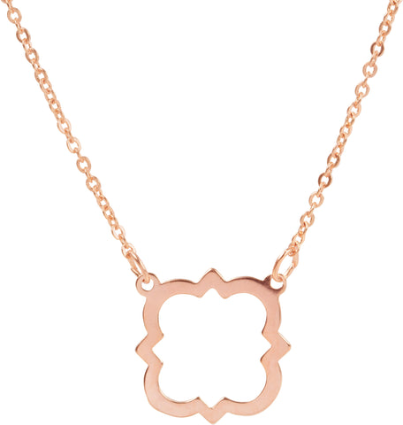 Rose Quatrefoil Necklace
