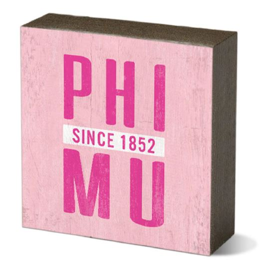 Phi Mu Small Square Block