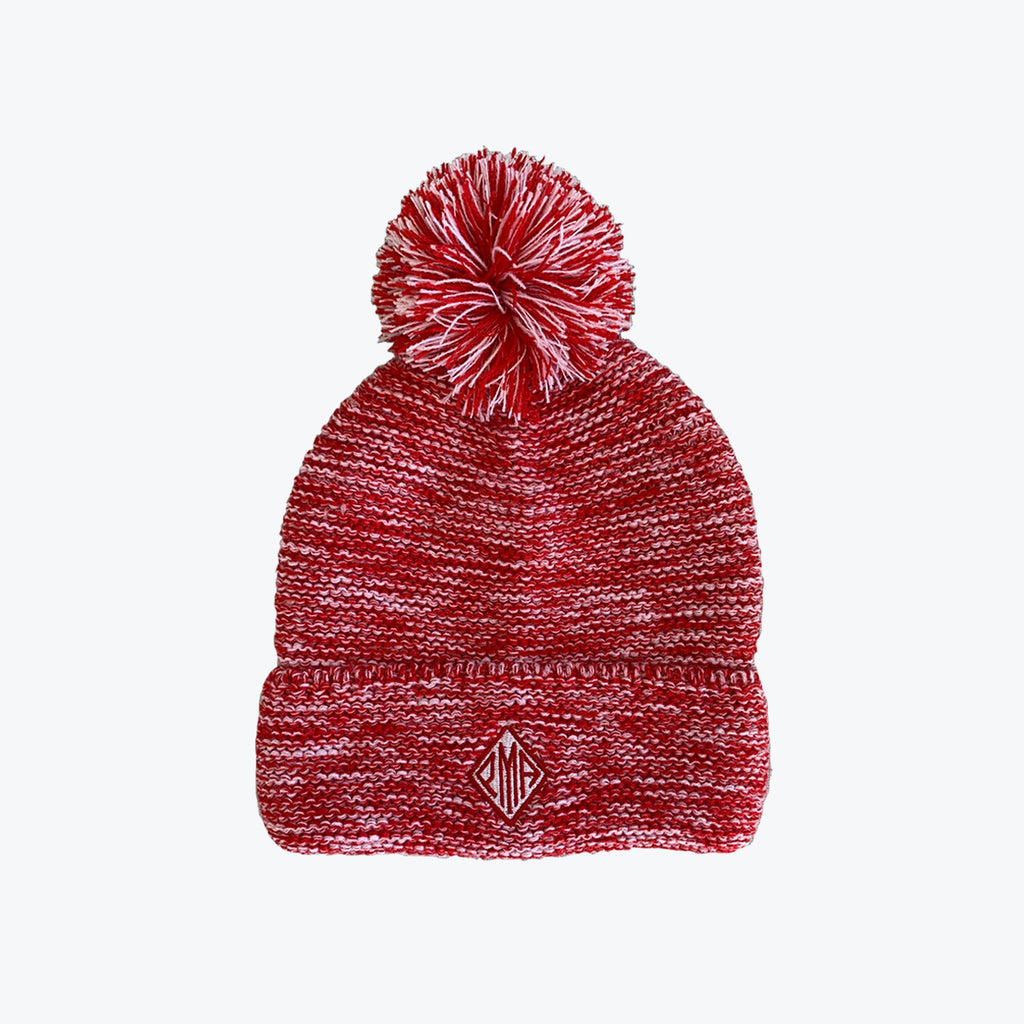 PMA Heather Red Pom Pom Beanie
