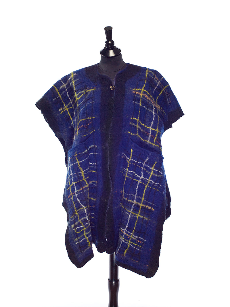 Narrow Blue Poncho