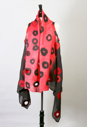 Holey Black & Red Vest