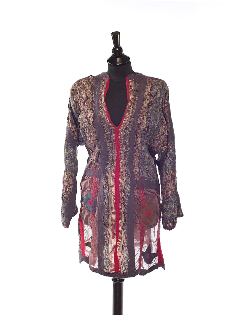 Indian Dreams-Red; One-of-a-Kind Tunic