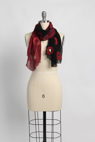 Holey Black Emerald Merino Wrap or Scarf