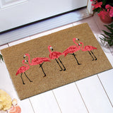 Flamingo flamboyance coir door mat