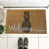 Welcome with a Pineapple coir door mat