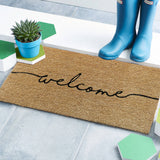 Plain welcome coir doormat