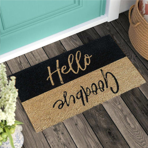 Hello & Goodbye coir doormat