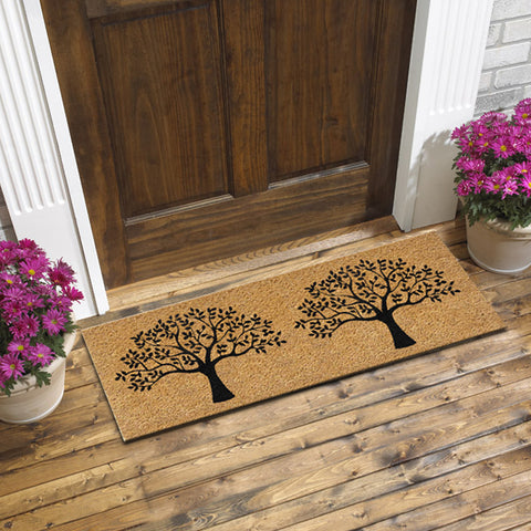 Double tree coir door mat