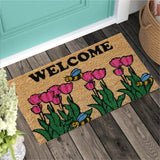 Welcome - Pink Flowers