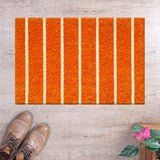 Orange - Vertical stripes coir doormat