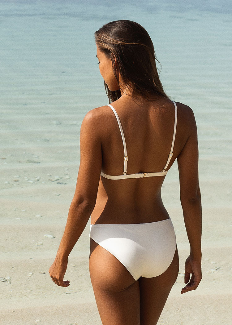 L'Aquila Look Good Classic Bottom - Ivory - Laara Swim Sustainable Swimwear