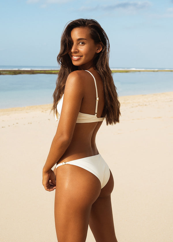 Marbella Bikini Bottom - Ivory - Laara Swim Sustainable Swimwear