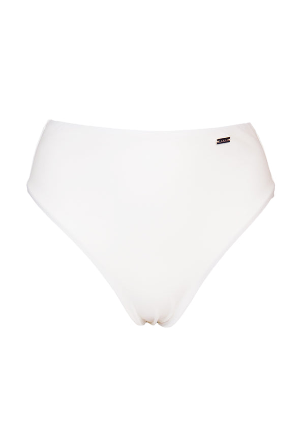 Belize High Waist Bikini Bottom - Ivory - Laara Swim Sustainable Swimwear