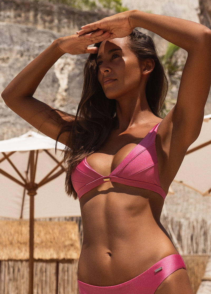 Jamaica Halter Bikini Top - Rouge - Laara Swim Sustainable Swimwear