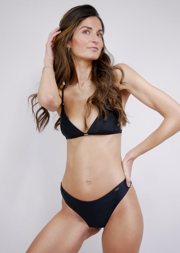 Havana Triangle Bikini Top - Noir - Laara Swim